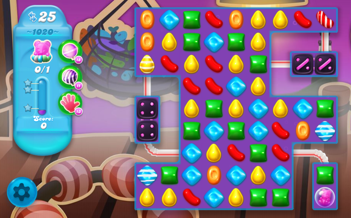 Candy Crush Soda saga Saga 1020
