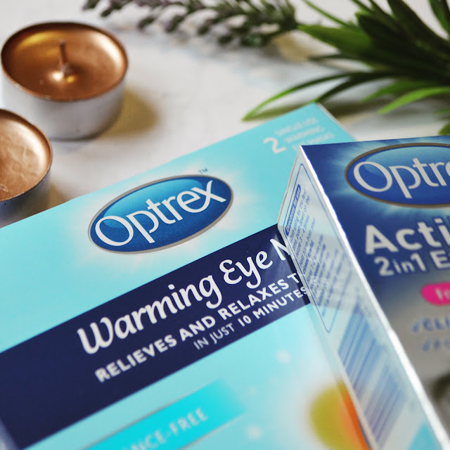 Lovelaughslipstick blog - review of Optrex Warming Eye Masks and Optrex ActiMist 2 in 1 Eye Spray for Dry and Irritated Eyes