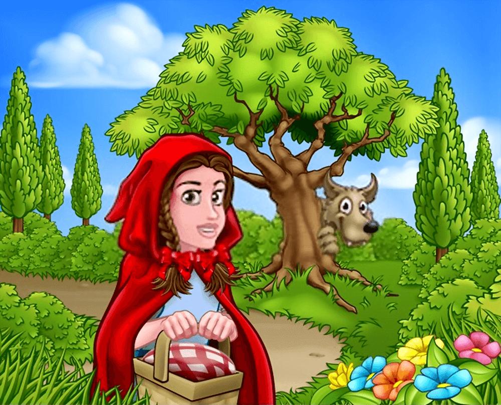 قصة ليلى والذئب ذات الرداء الاحمر