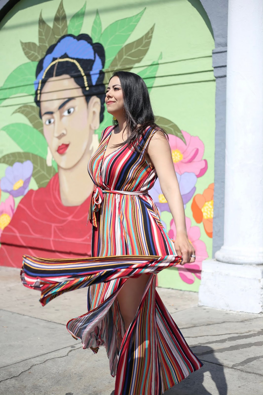 colorful maxi dress, how to wear a colorful maxi dress