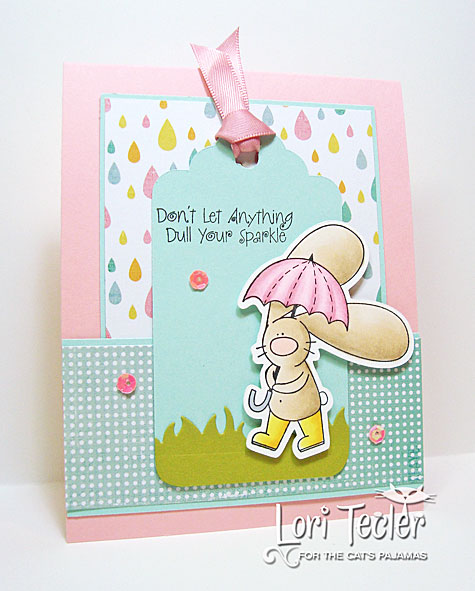 Don't Let Anything Dull Your Sparkle card-designed by Lori Tecler/Inking Aloud-stamps and dies from The Cat's Pajamas