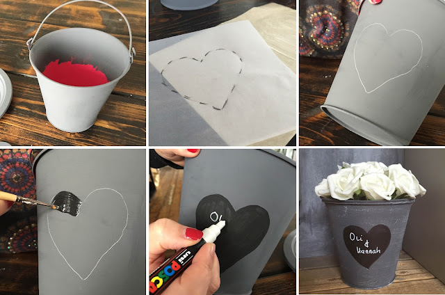 Create DIY wedding centrepieces with You Can Folk It and DecoArt chalky finish paint