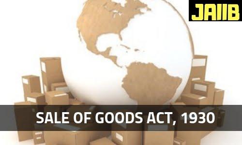 Sales Of Goods Act 1930 Pdf