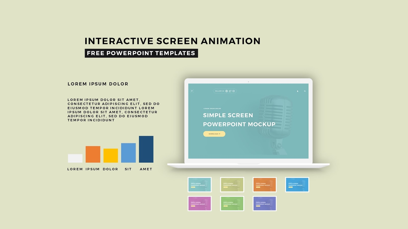 interactive screen animation powerpoint template