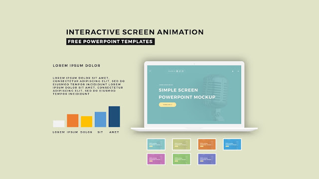 Interactive Screen Animation PowerPoint Template Slide 1
