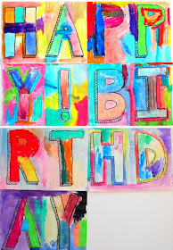 Gorgeous Happy Birthday Banner Painted By Kids