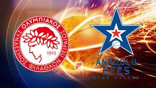 Euroleague Basketball: Olympiacos vs Anadolu Efes live Stream Today 13/12/2018 online
