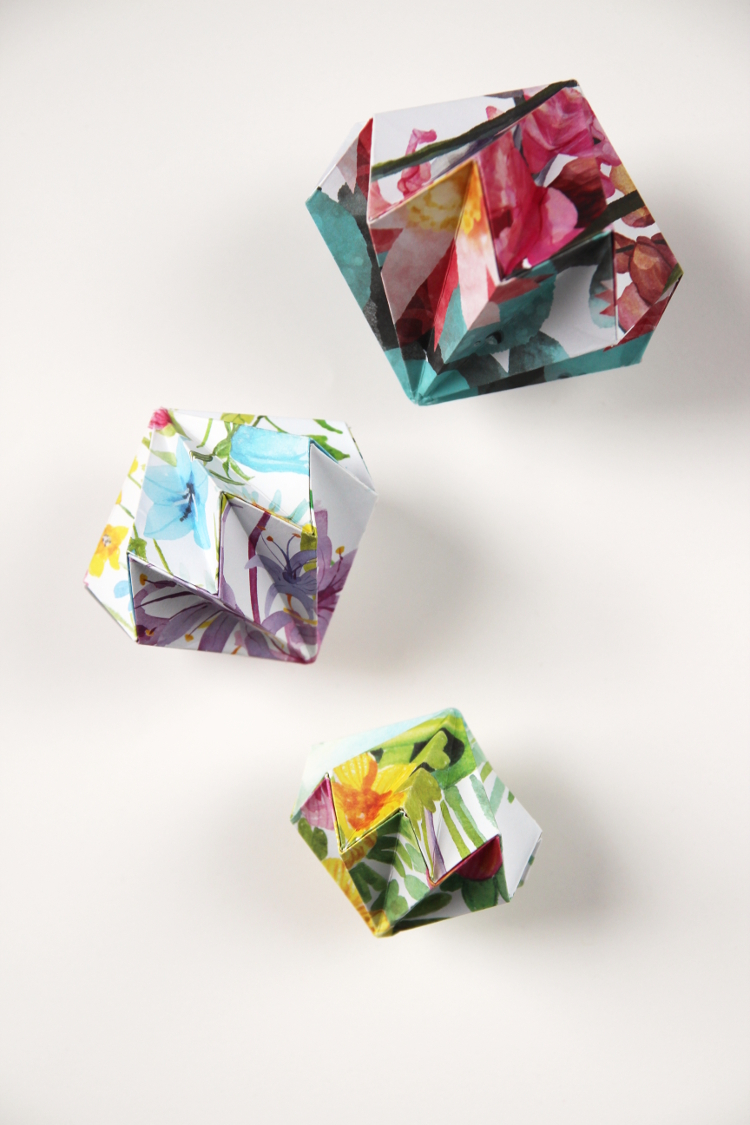 DIY ORIGAMI DIAMOND DECORATIONS
