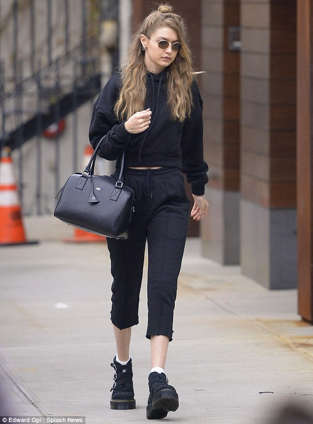 Gigi Hadid on a low as she steps out in New York after being targeted by anti-fur protest