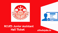 RCUES Junior Assistant Hall Ticket