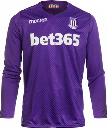 7d4947081d7 The Stoke logo on the new Stoke City 2017-18 away kit is white and blue.