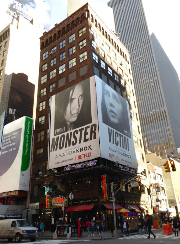 Amanda Knox Monster Victim billboards NYC