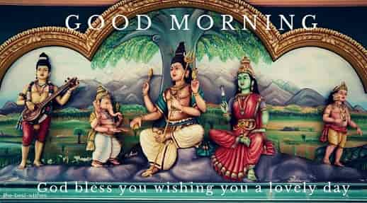 good morning images of god shiva family