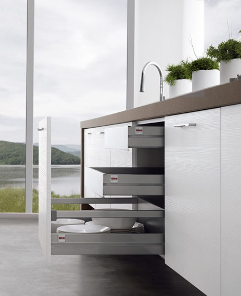 Kitchen Without Cabinets: Contemporary Kitchens Without Upper Cabinets