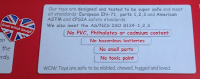 picture of the no nasties list on the side of the advent calendar box
