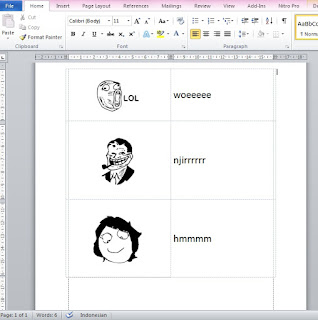Cara Membuat Meme Comic di MS Word