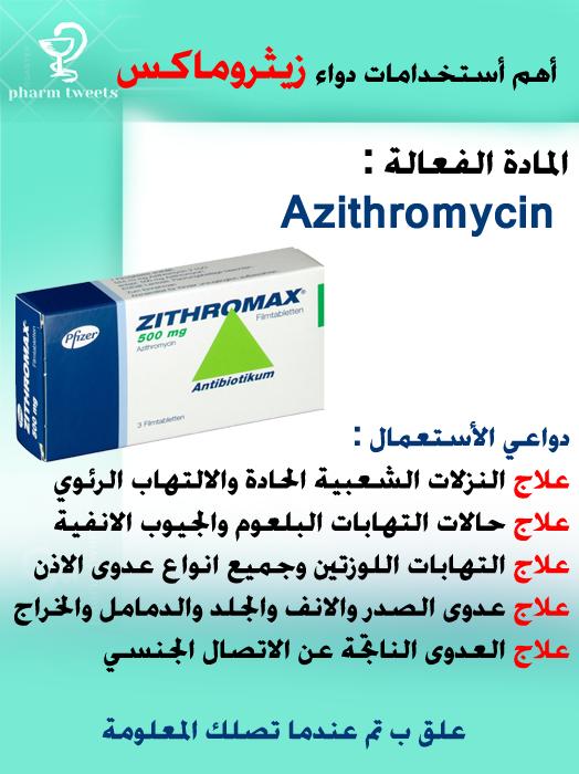 معلومات بسيطة عن دواء Azithromycin