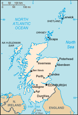 Map of Scotland in The ESL Connection