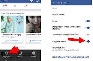 cara unggah foto HD di pengaturan Facebook