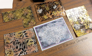 Tarnished Metal Technique Instructions ~ backgrounds created by Ramona Simpson