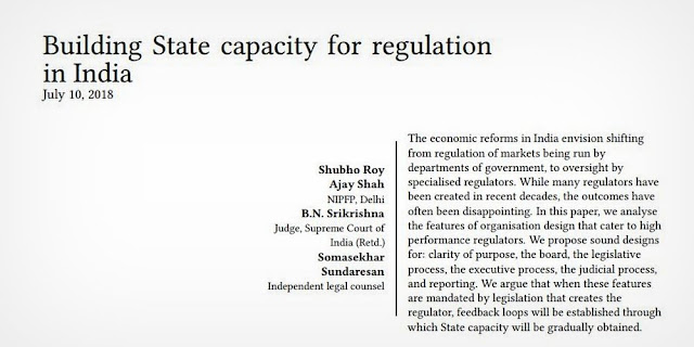 Building State Capacity for Regulation in India