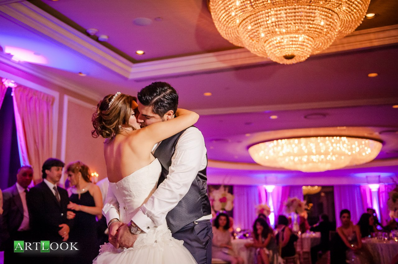 Beautiful Couple Enjoying Their First Dance.
