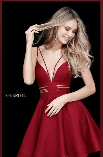 Sherri Hill Homecoming Dresses , Multi-Strap V-Neck