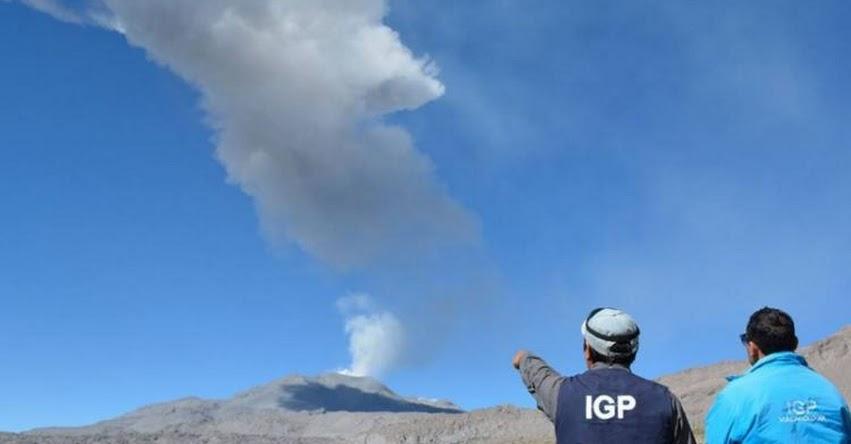 VOLCÁN SABANCAYA: Cenizas alcanzan los 30 km y afecta a distritos de Caylloma en Arequipa [VIDEO]