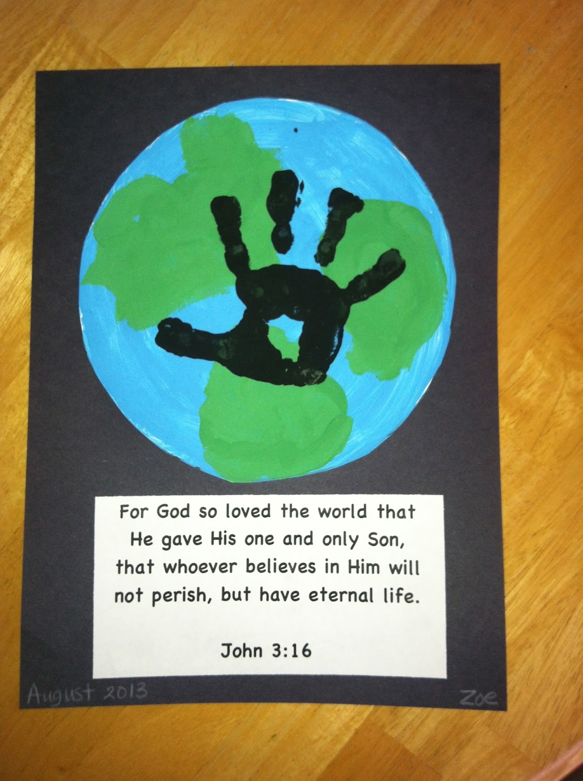 There S No School Like Homeschool Earth Handprint Craft