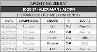LOTECA 694 - HISTÓRICO JOGO 07