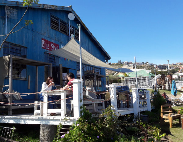 Blue Shed Coffee Roastery, Mossel Bay South Africa | Happy in Red