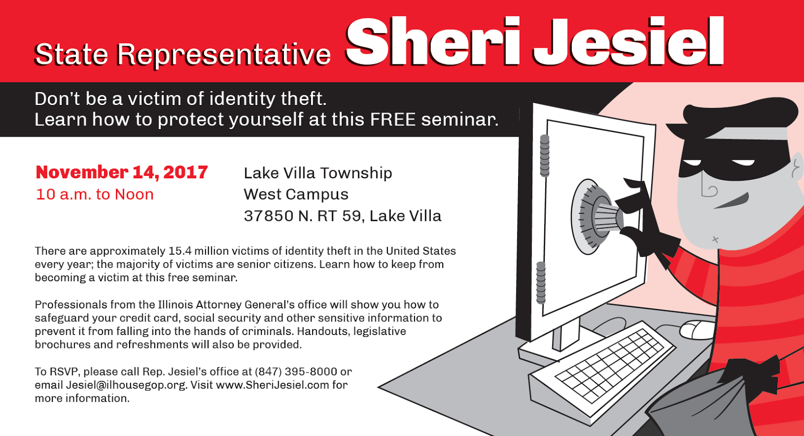 Ides illinois file my certification - State Representative Sheri Jesiel R Winthrop Harbor Is Hosting A Free Seminar For Residents To Learn How To Protect Themselves From Identity Theft On