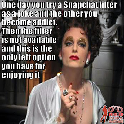 Addicted to Snapchat filters Sissy TG Caption - TG Captions and more - Crossdressing and Sissy Tales and Captioned images
