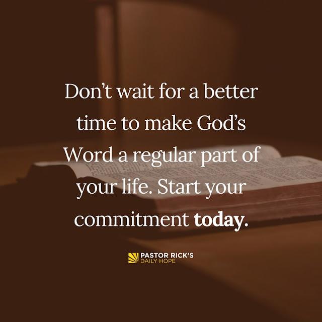 Rick Warren: Four Steps to Make God's Word a Habit