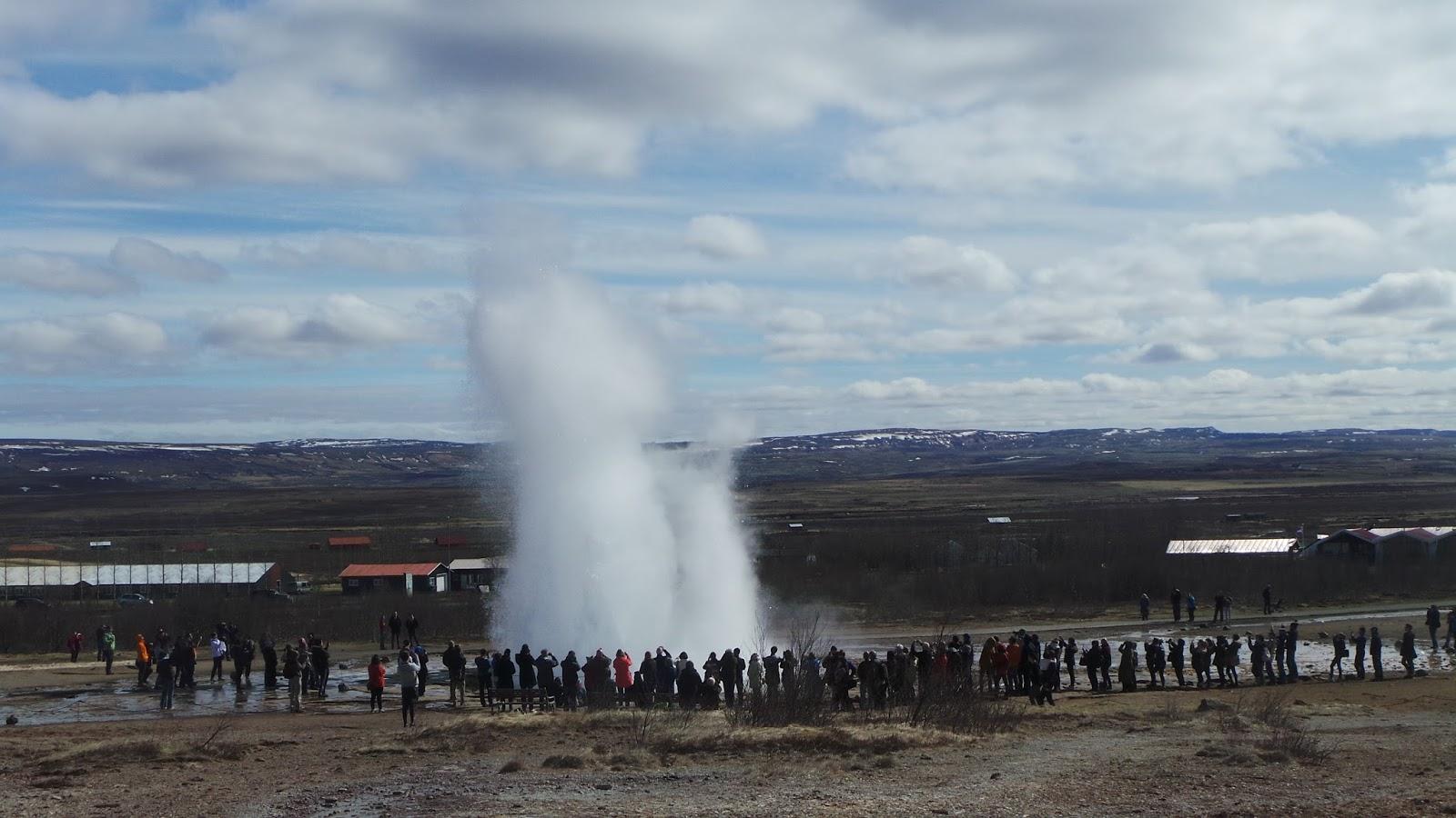 Reykjavik amazing geyser