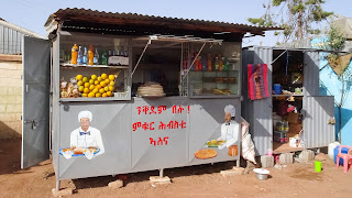 Eritrea also has food stalls