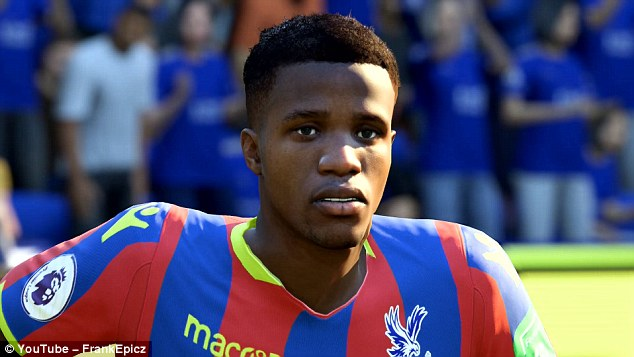 Wilfried Zaha Face FIFA 19