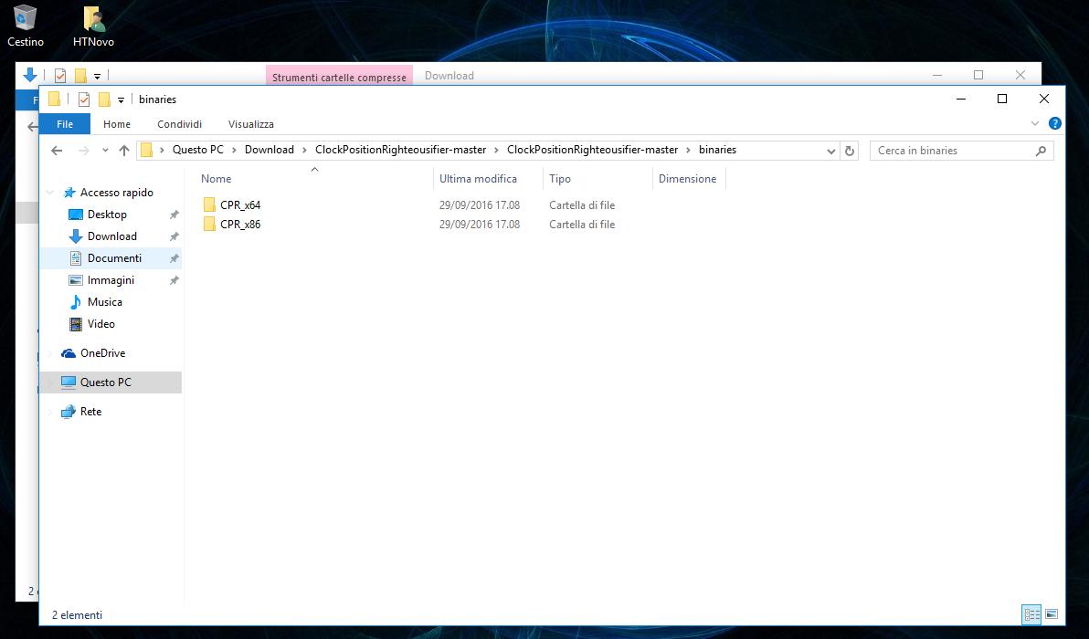 Come riposizionare l'orologio alla fine della Taskbar in Windows 10 AU 6 HTNovo