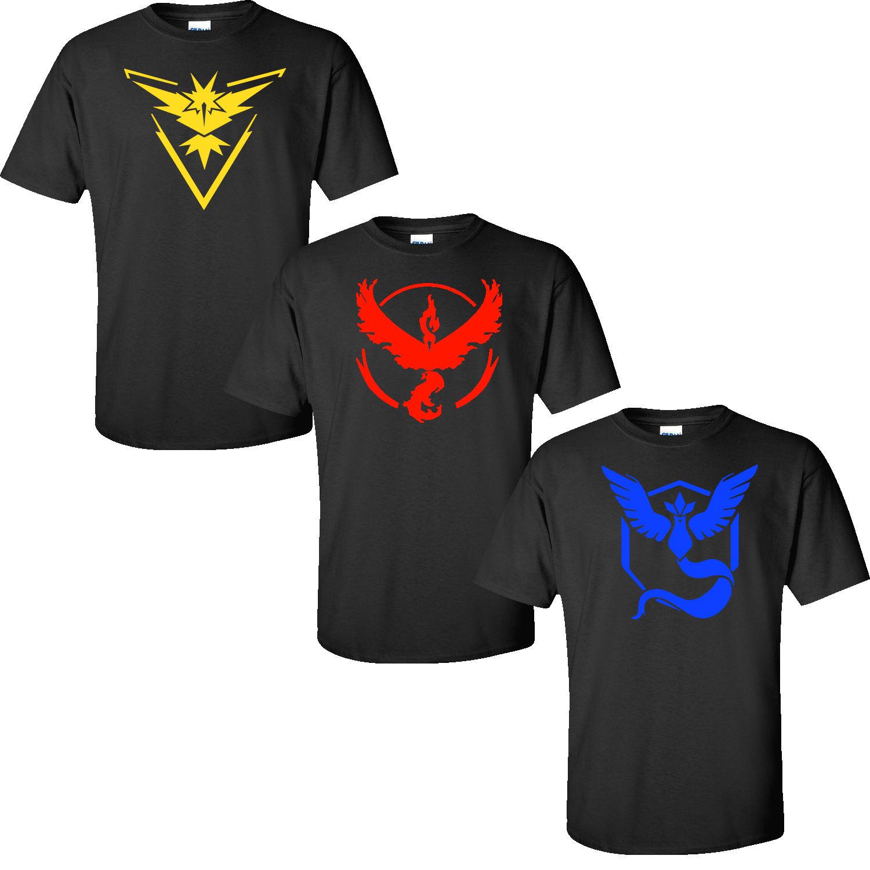 eb0ac765 Pokemon Go Team Valor Team Mystic Team Instinct Pokeball Nerd Black Tee  Shirt