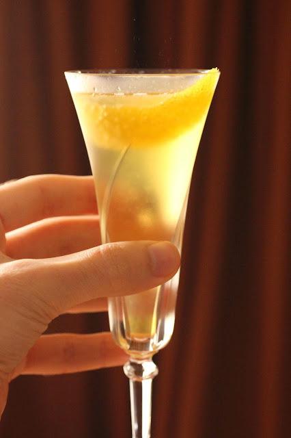 cocktail pour les fêtes au champagne