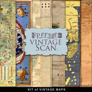 Freebies Kit of Vintage Maps