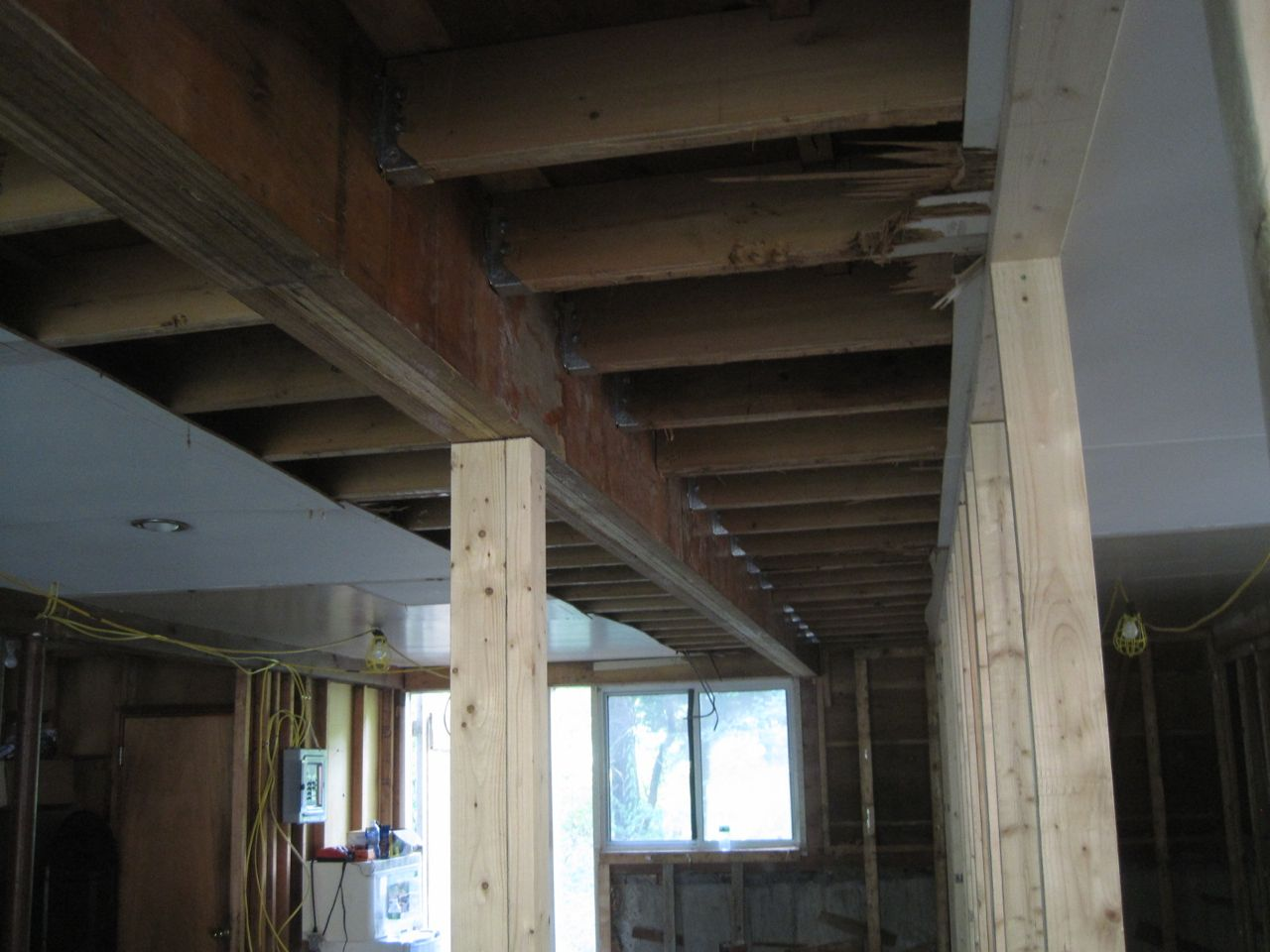 Concord House Renovation Review Replacing A Long Beam