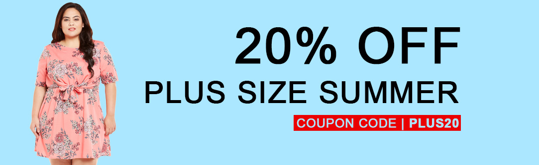 20% Off Plus Size #Summer