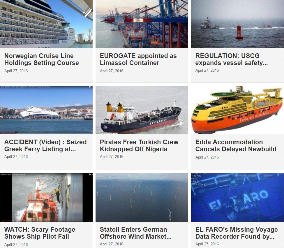 Maritime News 27 April 2016