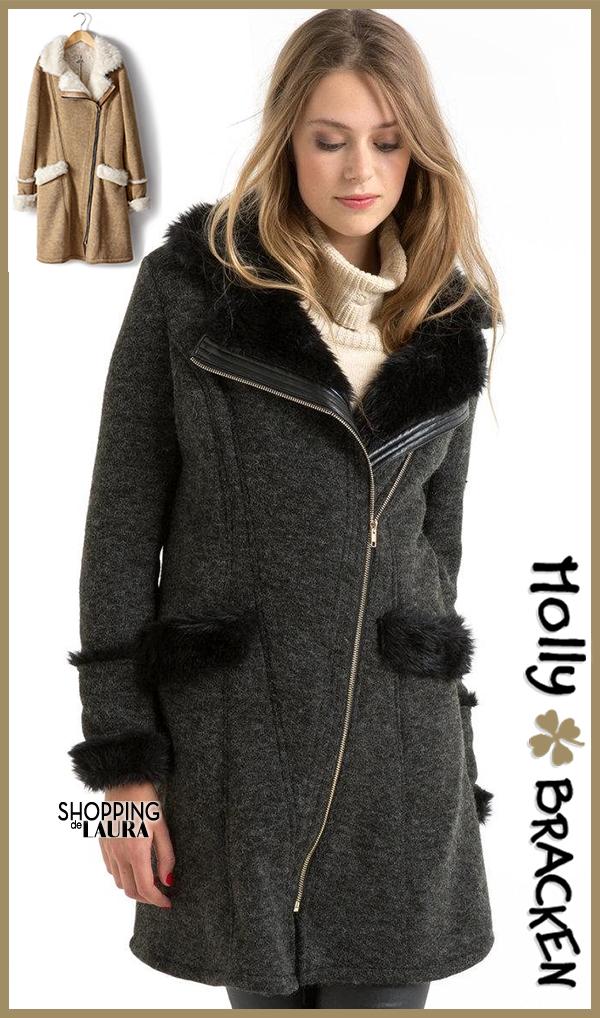Manteau noir et anthracite fourré MOLLY BRACKENS