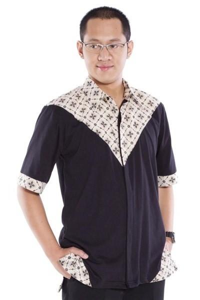 Baju muslim pria dengan kombinasi batik terbaru untuk lebaran 2017/2018