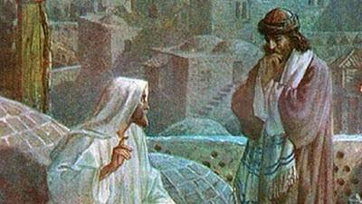 Christ speaking with Nicodemus