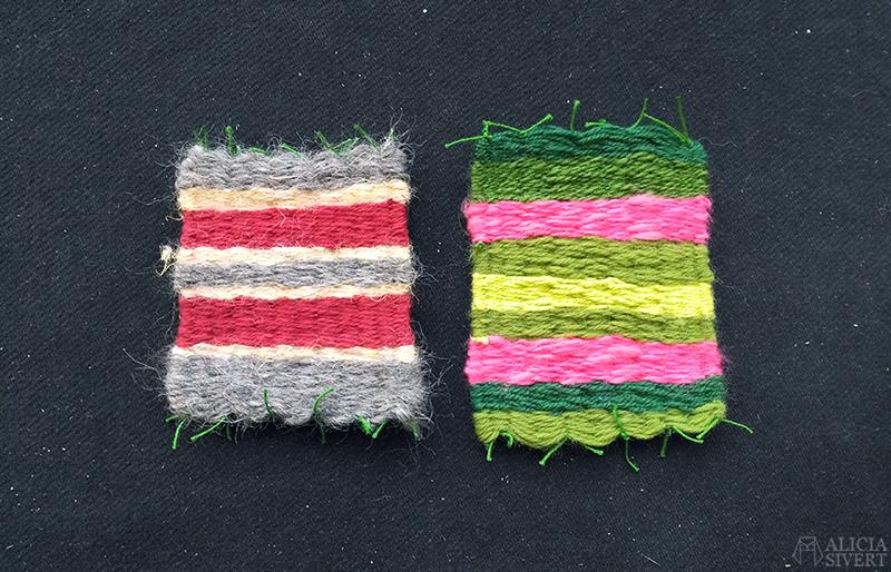 aliciasivert alicia sivertsson skapa skapande kreativitet väv väva skola bild och form vävning glasunderlägg weaving