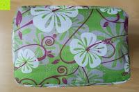 unten: Aosbos Wasserdichte Lunch Tasche Isolierte Thermo Picknicktasche für Lebensmitteltransport(Grün Blumen)