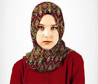 Alfamind Kerudung Hijab Pashmina Motif Merah Kuning Aitana ANDHIMIND